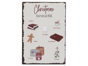 Metalskilt Christmas Survival Kit