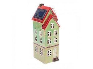 Nyhavnhus m/solar og LED Lysegrøn