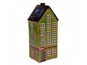 Nyhavnhus m/solar og LED lys Grøn