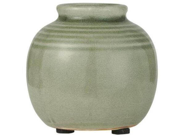 Vase mini m/riller grøn