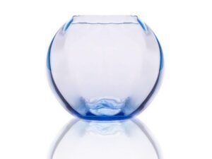 Anna Von Lipa Swirl Globe vase Light Blue