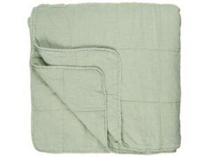 Vintage quilt sengetæppe dobbelt misty jade