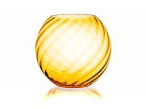 Anna Von Lipa Swirl Sphere vase Light Amber