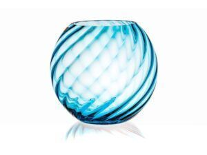 Anna Von Lipa Swirl Sphere vase Aquamarine