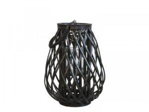 Lanterne i flet 40 cm Sort