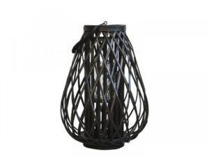 Lanterne i flet 50 cm Sort