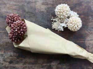 Tørrede Snebold Blomster Taupe
