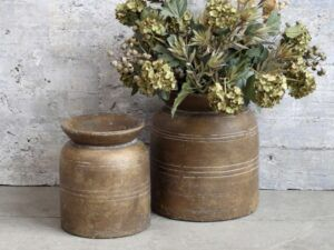 Chic Antique Vase med riller 22 cm