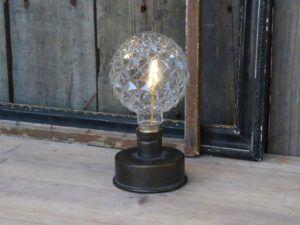 Lampe med mønstret pære