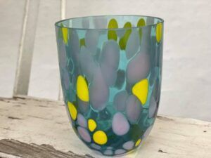 Anna Von Lipa Big Confetti krystalglas Aqua-Lemon