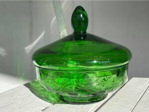 Anna Von Lipa Bonbonniere Bottle Green
